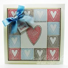Heart Card - Tags and Textures stamp set from Inky Doodles. Heart Cards, Card Tags, Anniversary Cards, Christmas Crafts, Projects To Try, Card Making, Doodles, Paper Crafts, Texture