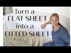 How to make a fitted sheet from an unused flat sheet. - YouTube Flat Sheets, Fitted Sheets, Peg Board Shelves, Glazing Furniture, Diy Furniture, Felt Leaves, Free Motion Embroidery, Patio Makeover, Wine Glass Charms