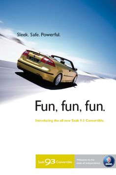 Poster for the Saab 9-3 Convertible