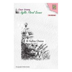 Tampon clear transparent scrapbooking Nellie Snellen FLEUR PANIER OEUF 032 Tampons Transparents, Art Origami, Simon Says Stamp, Scrapbooking, Clear Stamps, Nest, Choices, Birds, Floral