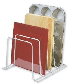 Multi-Use Organizer. Ideal for baking pans, trays, office supplies, folders. For use in home and office.