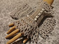 Fine Crochet Gray Grey Gothic Steampunk Victorian by Scarletrabbit