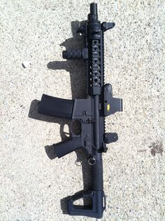 """Custom 10.5"""" colt m16a1, complete with the """"fun switch"""""""