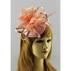Fascinator - Nude Mesh Hat Feather Hairband wedding races Ascot garden party special occasion Georgianna Accessories http://www.amazon.co.uk/dp/B00N6R3PWE/ref=cm_sw_r_pi_dp_.ZVSub1TFHMM8