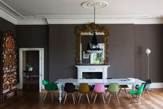 Dining rooms taken to a new glam level by Ilse Crawford