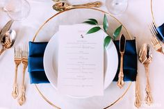 Extend an olive branch at your wedding with a good menue. | Photography By: Nicole Sarah Photography | WedLuxe Magazine | #wedding #luxury #design #weddinginspiration #tablescape #tabledecor #placesettings #tableware #stationery