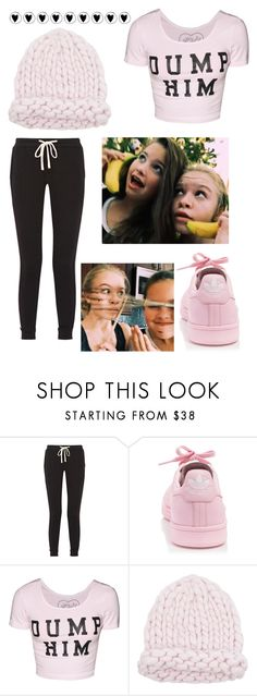 """""""I wove yooou"""" by bellaa03114 ❤ liked on Polyvore featuring James Perse and adidas"""