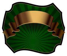Шаблон зеленый роскошные этикетки PNG клипарт изображения