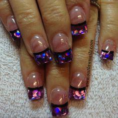 Purple nail tips. Toenail Art Designs, Nail Polish Designs, Nail Polish Colors, Nails Design, Get Nails, Love Nails, Pretty Nails, Mylar Nails, King Nails