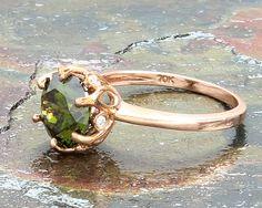 10K Peridot Diamond Engagement Ring Alexandrite Jewelry, Peridot Jewelry, Antique Aquamarine Ring, Peridot Engagement Rings, Antique Roses, Be My Valentine, Promise Rings, Favorite Color, Wedding Bands