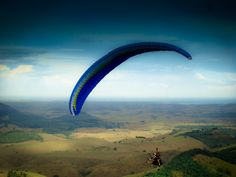 Paraglider flight from somewhere in the world