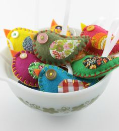 Wholesale Lot of 8 Eco Felt Bird Ornaments Felt by lovahandmade