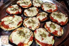 Cozinhando sem Glúten: Mini pizzas de berinjela