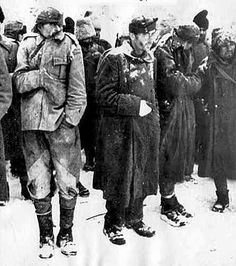 Prisoners. ... WW2. The remnants of the German Sixth Army after the surrender. Starving, broken men were once formidable soldiers of the Wehramcht.As they were now far from proud, excellent German soldiers who stepped into Russia in 1941 year. Stalingrad. January. 1943