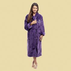 Terry Town - Tahoe Microfleece Shawl Collar Robe