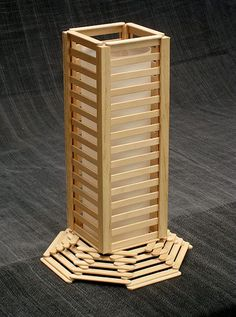 Log Cabin Made with Popsicle Sticks | great popsicle stick lamp, it comes complete with glue and light ...