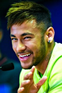 Neymar of FC Barcelona faces the media during a press conference ahead of their UEFA Champions League Group F match against AFC Ajax at Ciutat Esportiva on October 2014 in Barcelona, Catalonia. Neymar Jr, Neymar Memes, Barcelona Training, Neymar Brazil, Professional Football, Sports Memes, Uefa Champions League, Fc Barcelona, Barcelona Catalonia