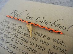 Love my Cowboys Inspired Wish Bracelet by LaFemmeFanatic on Etsy, $7.00