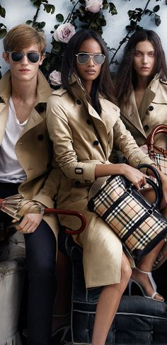 An exciting new British cast wearing heritage trench coats and accessories in the Burberry Spring/Summer 2014 campaign