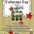Enjoy this Veterans Day Freebie as you honor our veterans in your classroom! This Veterans Day pack includes an original poem, written by me. It al...