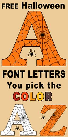 Halloween Font (Printable Letters, Numbers, and Alphabet Clipart) – Patterns, Monograms, Stencils, & DIY Projects Halloween Letters, Halloween Stencils, Halloween Fonts, Halloween Design, Printable Halloween Decorations, Halloween Garage, Halloween Tags, Halloween Prop, Halloween Stuff