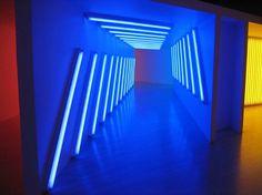 Blue Intensity - Dan Flavin
