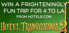 To celebrate Sony Pictures Hotel Transylvania 2 Hotels.com wants you to enter once to win $2000 in gift cards for a vacation to Sony Pictures Animation Studios! What a cool prize, just in time for … Hotel Transylvania 2, Animation Studios, Win A Trip, Gift Cards, Sony, Hotels, Vacation, Pictures, Gift Vouchers