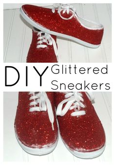 How to Make DIY Glitter Sneakers Quickly and Easily - Style on MainStyle on Main
