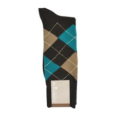 Florsheim Argyle Sock in Brown, Khaki, and Teal