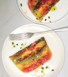 So pretty! tomato terrine  http://www.epicurious.com/recipes/food/photo/Tomato-Terrine-366753#