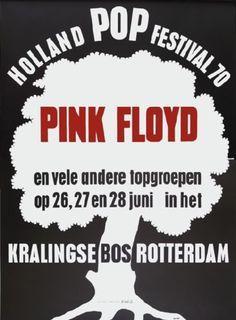 Pink Floyd Holland Pop Festival 1970, 28th June 1970. Rotterdam