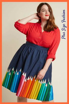 Haha, a pencil skirt which isn't a pencil skirt :-) Love the twist #plussize #ad #modcloth #pencilskirt