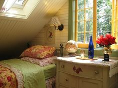 i like the wood plank for the slanted ceiling....pricey?