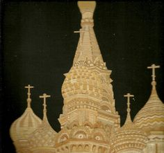 Russian Orthodox Church  Russian Church Handmade by museumshop, $150.00.  Have you seen ancient leaf art?  This is handmade with rice straw !