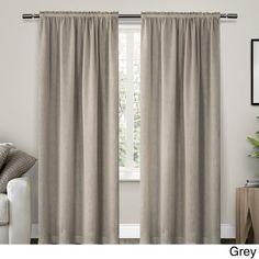 ATI Home Belgian Textured Rod Pocket Curtain Panel Pair