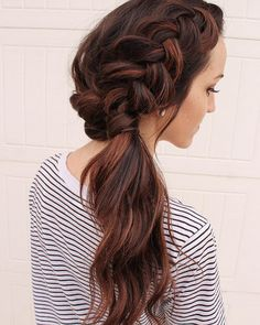 Crown Braid And Side Ponytail