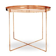 Ornate Copper Side Table