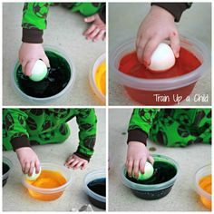 Tips for Dyeing Easter Eggs with Toddlers - simple ideas that work!