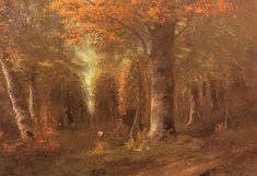 Gustave #Courbet, La foresta in autunno (1841) #art #Autumn