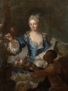 portrait of the marquise d usson de bonnac in 1707 by. Black Bedroom Furniture Sets. Home Design Ideas
