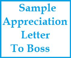 ThankYou Notes And Appreciation Messages For A Boss