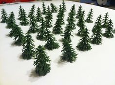 The last two pictures show the possibilities of these little trees and are not included. I just glued on a stick for a trunk and sprinkled on some fake moss for an extra neat look. | eBay!