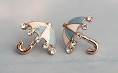 Studded Umbrella Earring. Not sure why I likes these,,,,,maybe they remind me of Singin in the Rain