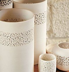 Perforated ceramic from Brazil -  O rico artesanato brasileiro - ceramica perfurada