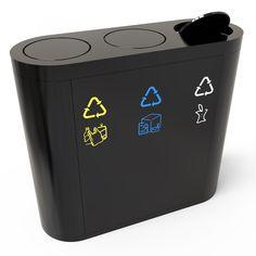 Copenhagen Poubelle tri sélectif avec compartiments de recyclage