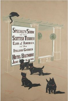 Scottie poster by Marguerite Kirmse
