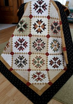 """Cross and Crown"" - Made by Rhonda Byrd.  Hand quilted.  Pattern designed by Jill Shaulis of Yellow Creek Designs"