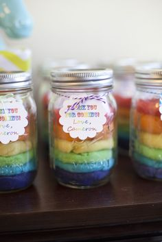 Favors at a Rainbow Unicorn Party #rainbow #partyfavors