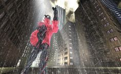 Gerald Ligonnet Cyborg on the city, 3d picture made with cinema 4d, postprod with photoshop.