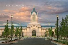 Fort Collins Temple Sunset North - The sunset fades at the Fort Collins Colorado…